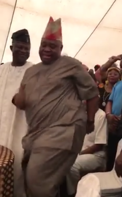 Dancing video of  senator Ademola Adeleke