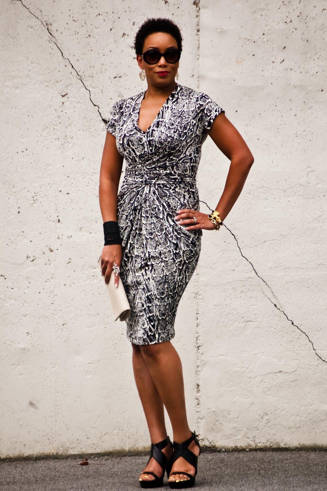 Vogue 1258 - Snake Print Jersey Dress!
