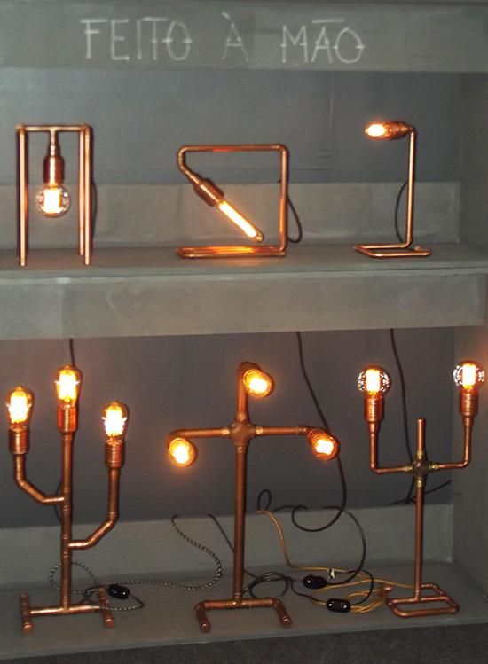 luminária de cobre, a casa eh sua, luminaria diy, luminaria faça você mesmo