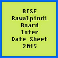 Rawalpindi Board Inter Date Sheet 2017, Part 1 and Part 2