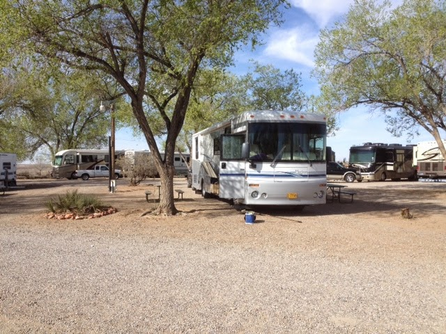 Motorhome in Enchanted Trails RV Park