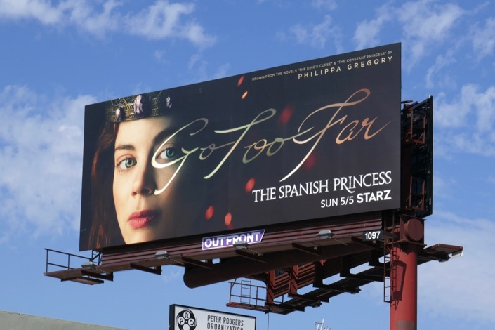 Spanish Princess Go Too Far billboard