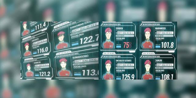 Unsur Indonesia yang terdapat pada anime Pscyhoo-Pass