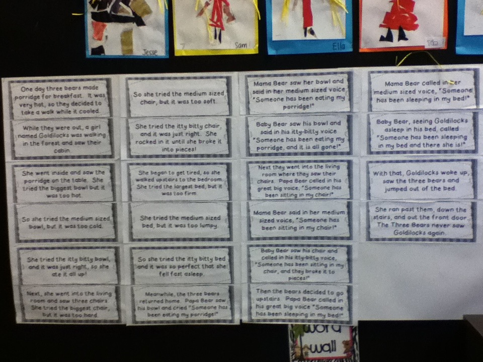 C3 Wild About Learning: Let Me Entertain you- Goldilocks and