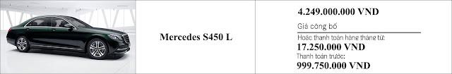 Giá xe Mercedes S450 L 2019 tại Mercedes Trường Chinh