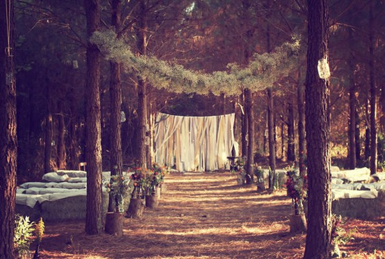 Our Love In October Wedding Love A Rustic Forest Wedding