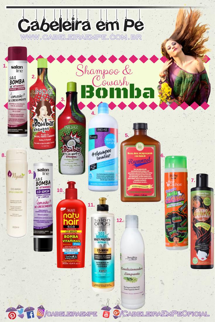 Crescimento Capilar - Shampoo (Low Poo) e Cowash (No Poo) Bomba Liberados - Salon Line, Inoar, Lola Cosmetics, Novex, Griffus, Nyata, Skafe, Salon Opus e Beto Bita F