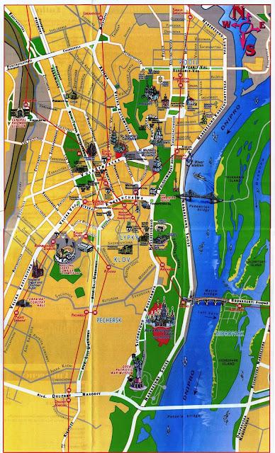Mapa de Kiev
