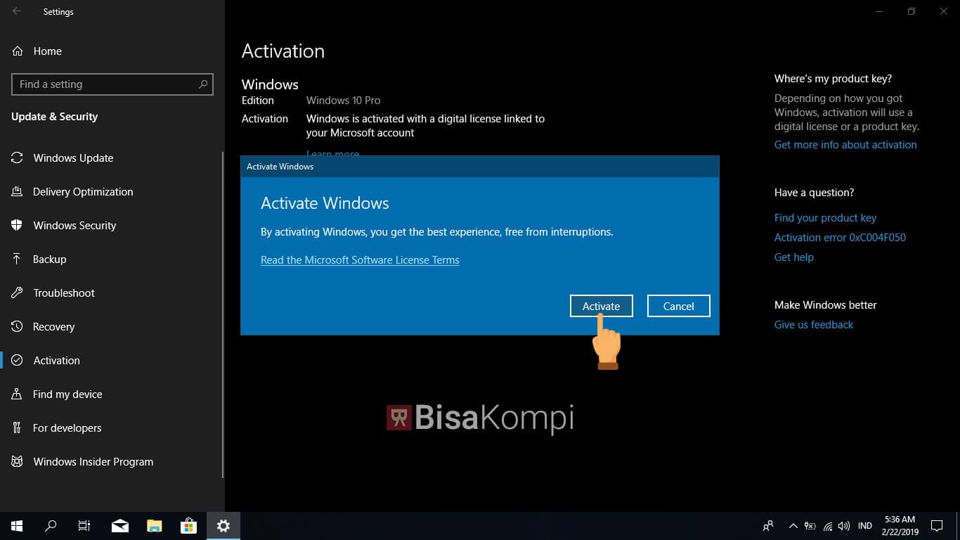 Cara Aktivasi Windows 10 yang Benar dan Mudah