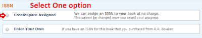 Screenshot: Select one isbn option