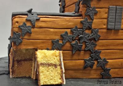 gâteau maison, gâteau Halloween, cake design, pâte à sucre, gumpaste, maison hantée, gâteau design, haunted house, patissi-patatta