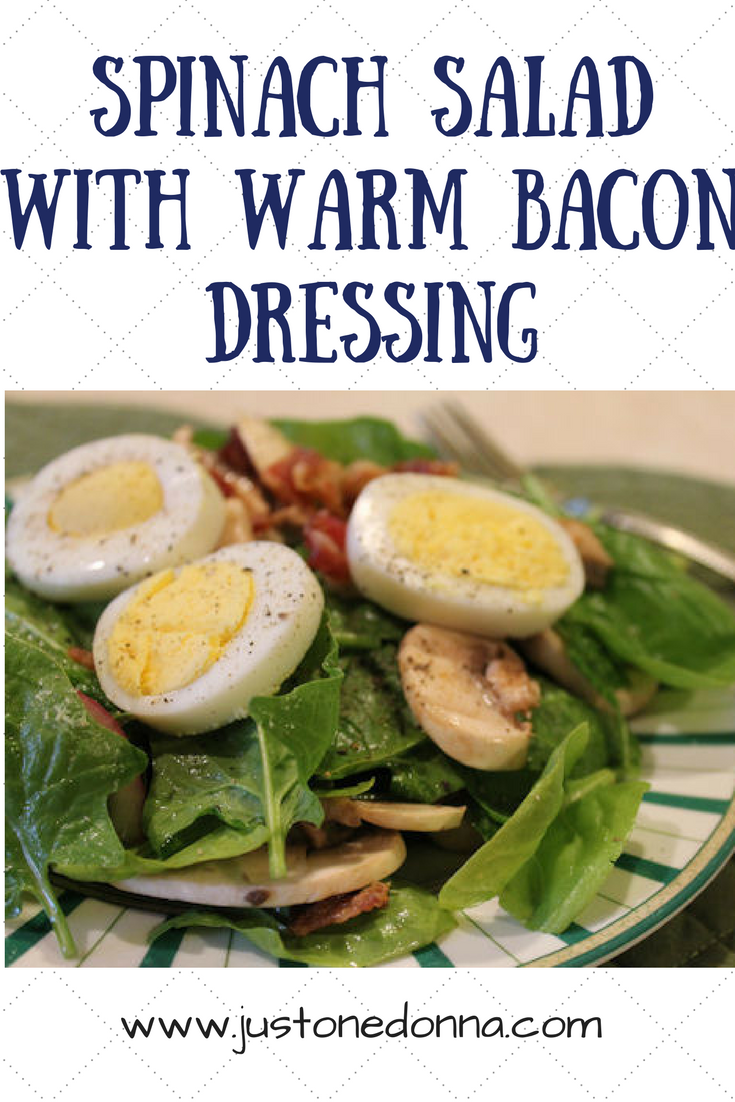 with warm bacon dressing spinach salad with warm bacon dressing