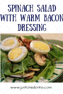 How to make a spinach salad with warm bacon dressing.