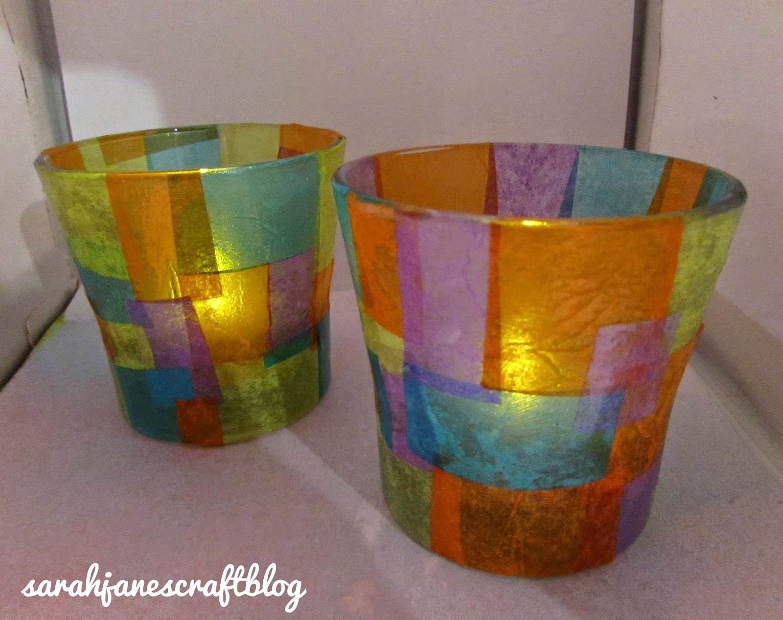 Stained Glass Candle Craft Tissue Paper