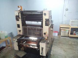 Mesin cetak kertas tranfer paper