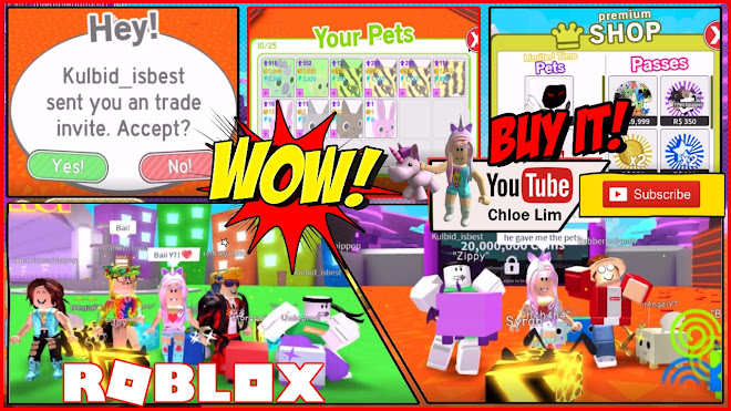 Chloe Tuber Roblox Pet Simulator Gameplay Trading Update Shout