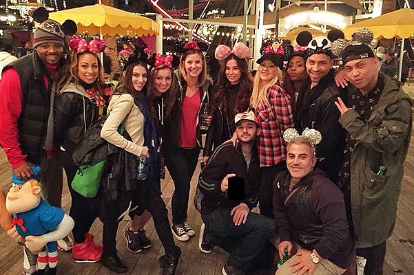 Christina Aguilera celebrated a birthday at Disneyland