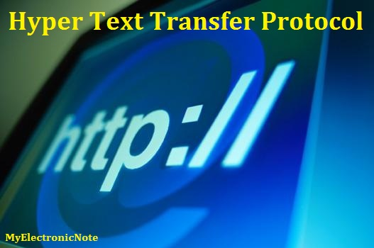 Hyper Text Transfer Protocol - HTTP