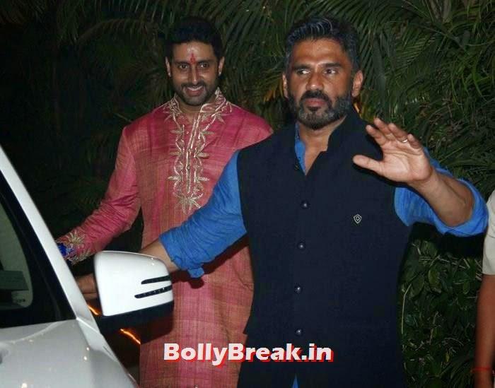 Abhishek Bachchan, Sunil Shetty, Photos from Amitabh Bachchan's Diwali Bash 2014