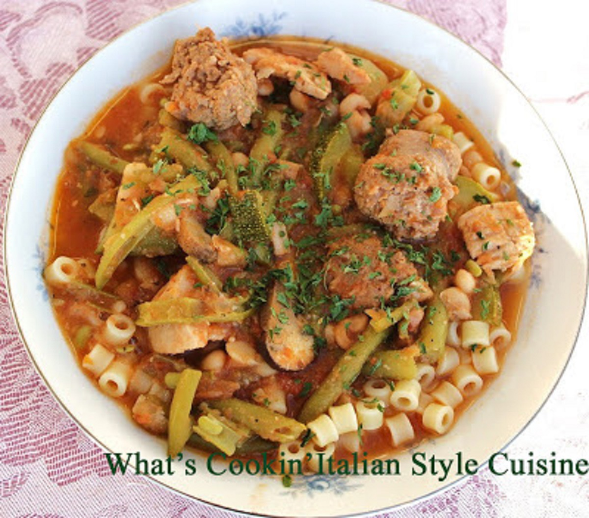 Sausage and Ditalini Stew Recipe