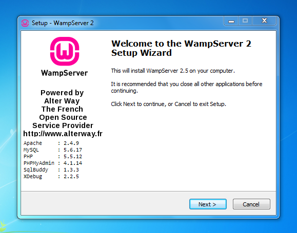 cara install wamp windows