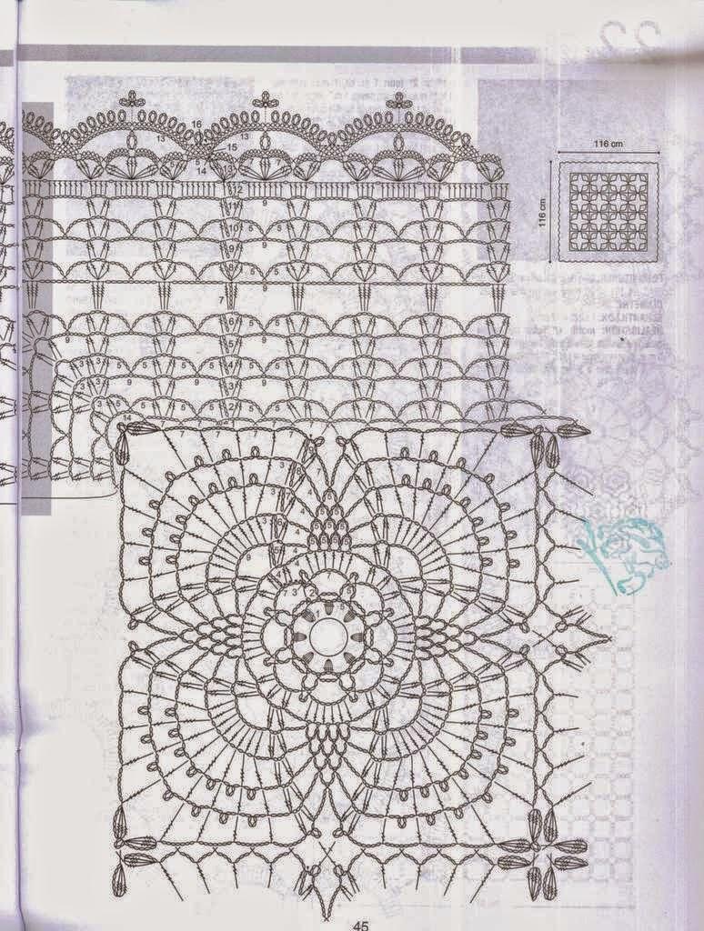 Un mantel para lucirte | Crochet y Dos agujas - Patrones de tejido