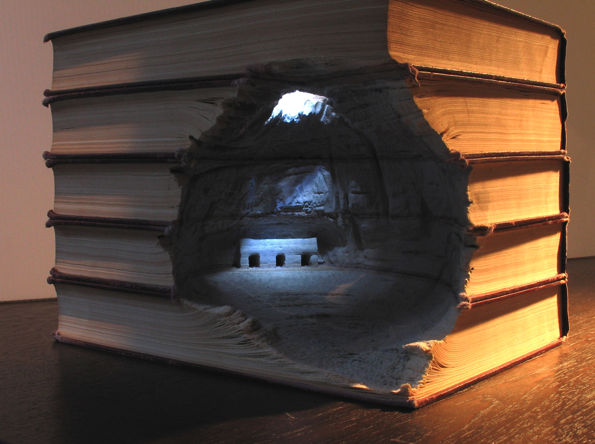 Intricate Book Landscapes by Artist Guy Laramée