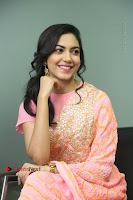 Actress Ritu Varma Pos in Beautiful Pink Anarkali Dress at at Keshava Movie Interview .COM 0236.JPG
