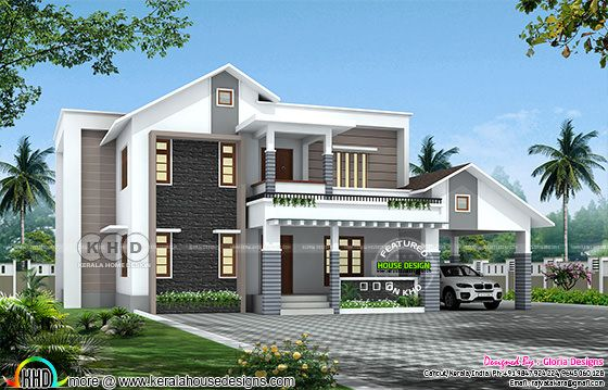 2930 square feet 4 bedroom mixed roof house