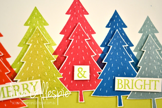 scissorspapercard, Stampin' Up!, Foxy Friends, Merry Christmas To All