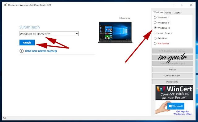 windows 10 pro indir 32-64 bit türkçe
