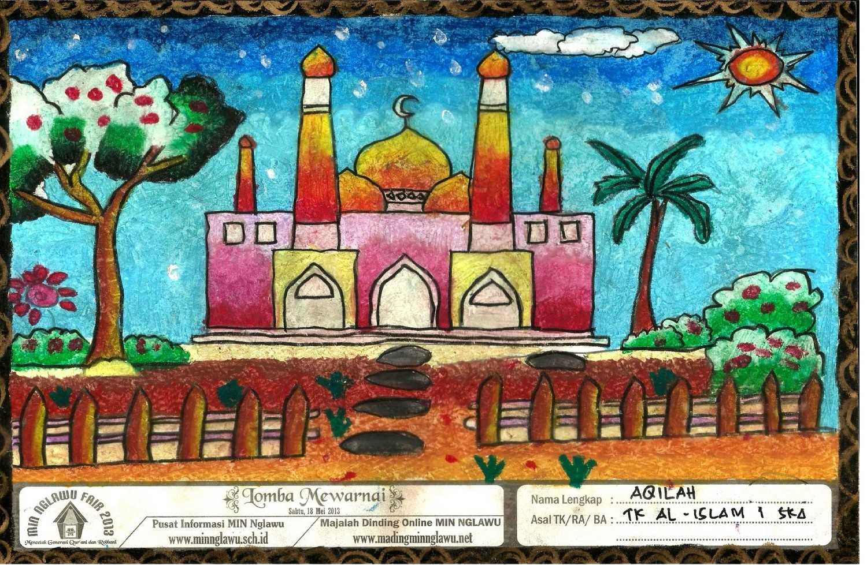 Gambar Masjid Untuk Lomba Mewarnai Anak Tk Mewarnai Cerita Terbaru Lucu Sedih Humor Kocak Romantis