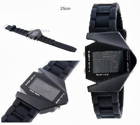 Σας παρουσιάζουμε το νέο ρολόι LED Skmei 0817 5ATM από καουτσούκ. w    Multi-Function Display.Water Resistant Digital Airplane Shaped Sports Watch e1a4293d611