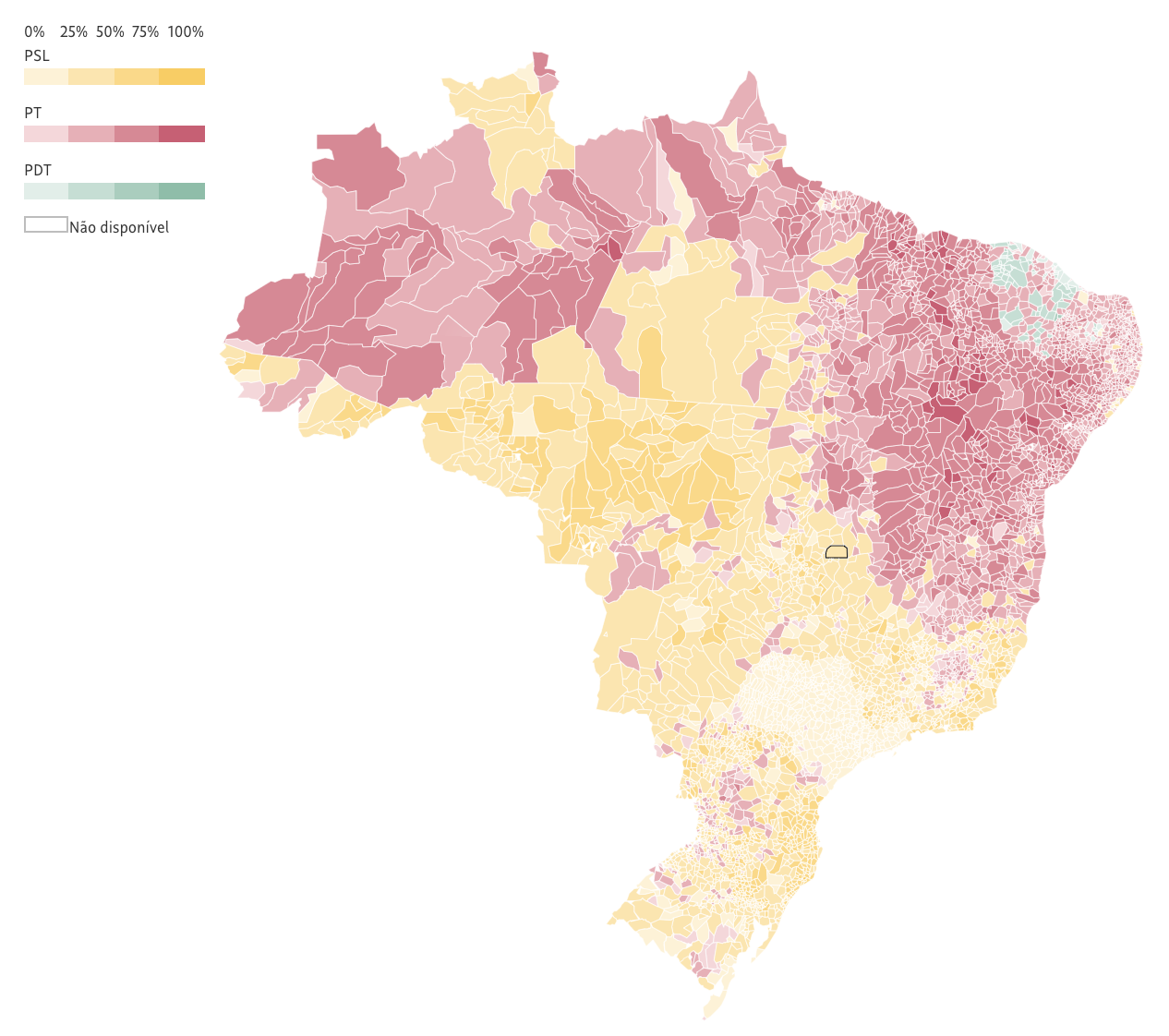 winning over 46 of the voter jair bolsonaro overperformed the polls and set himself up well for the second round his psl won 51 congressional seats