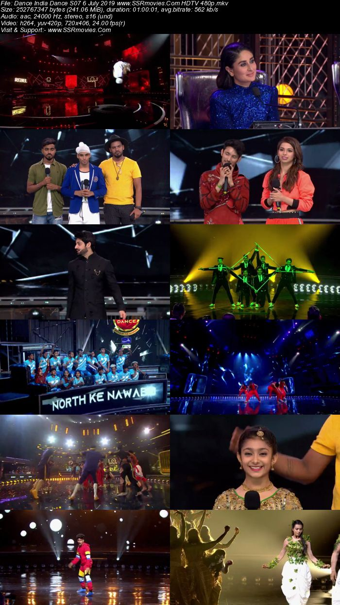 Dance India Dance S07 6 July 2019 HDTV 480p Full Show Download