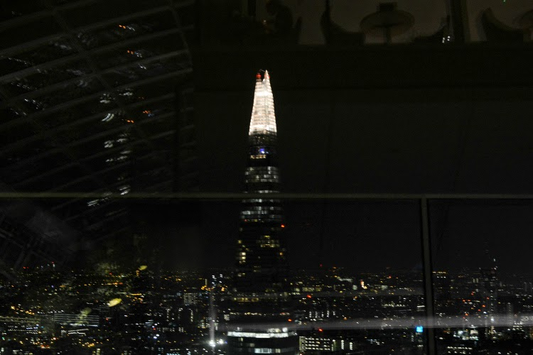 View of the shard from london skygarden