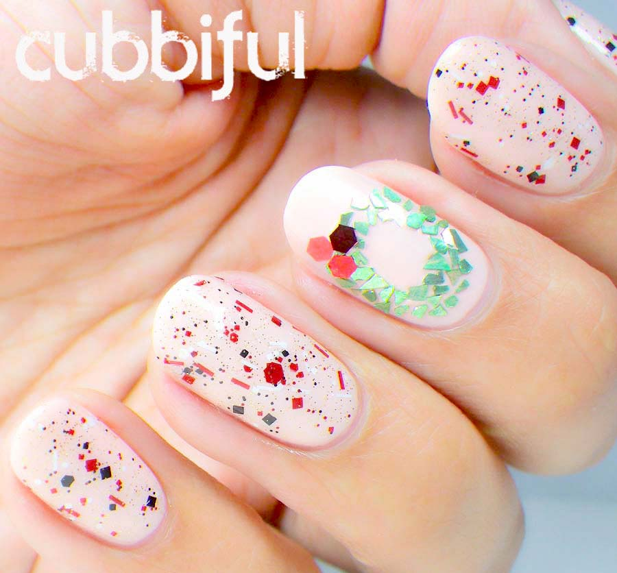 christmas garland nails