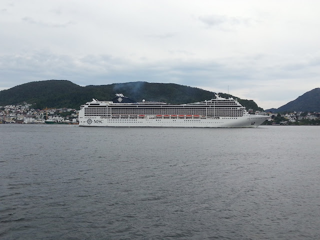 Cruise ship MSC Magnifica in Bergen, Norway