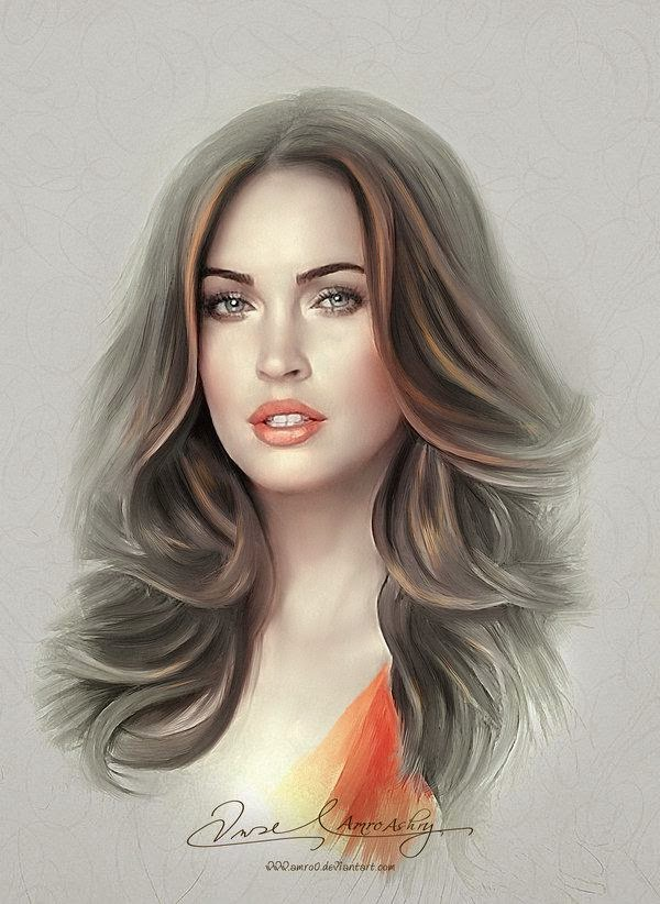 Mind-Blowing Digital Portrait Works by Amro Ashry