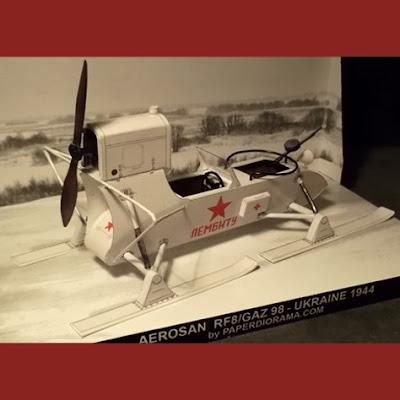 WW2 Soviet Aerosani Paper Model