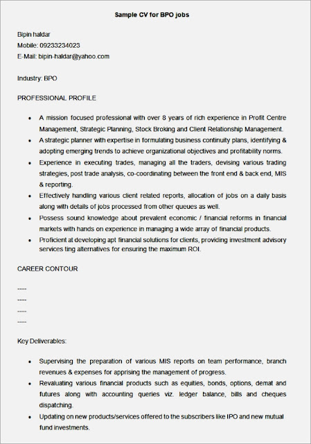 resume template customer service resume template bpo resume template