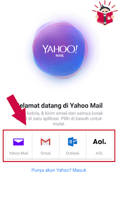mendaftarkan email yahoo menggunakan hp