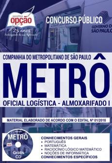Apostila Metrô-SP 2018 Oficial Logística - Almoxarifado I