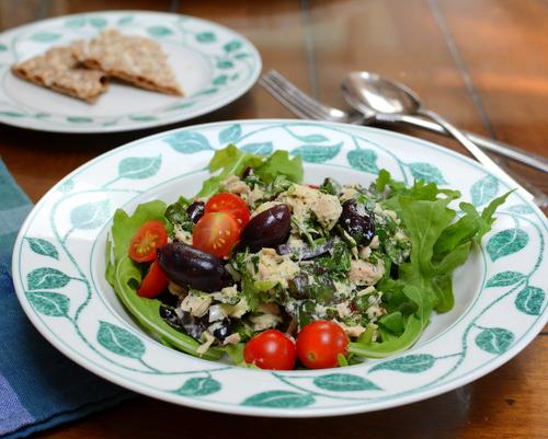 Swiss Chard Tuna Salad ♥ AVeggieVenture.com