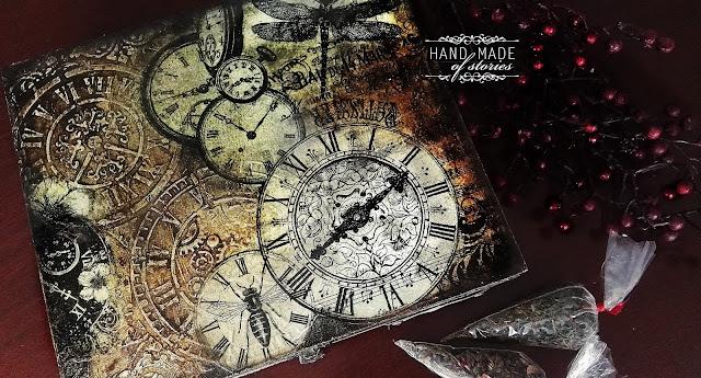 Herbaciarka z zegarami i ważką