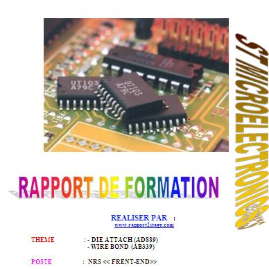 Rapport De Stage St Microelectronics Applications Micro