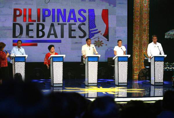 Image: Cagayan de Oro Presidential Debate for 2016 elections