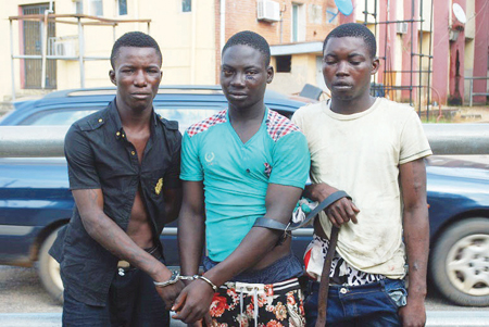 oshodi lagos traffic robbers arrested