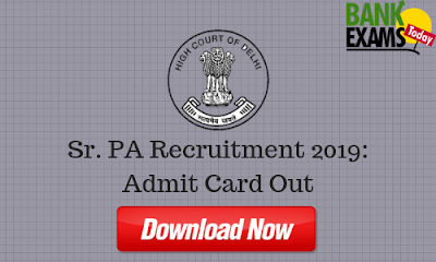 DHC Sr. PA Recruitment: Admit Card Out