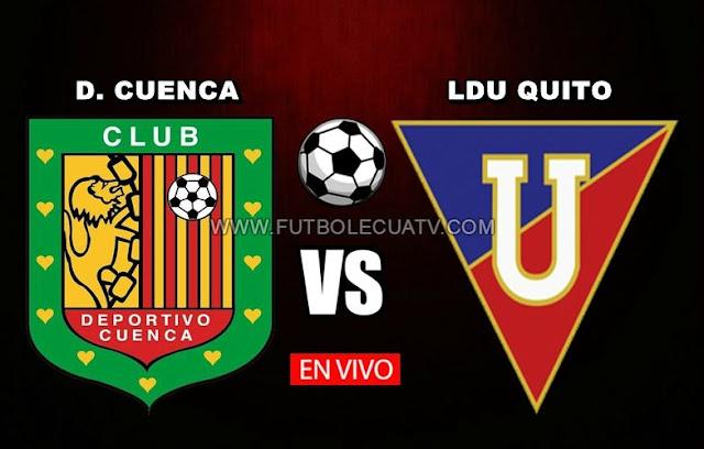 Deportivo Cuenca choca ante Liga de Quito en vivo a partir de las 18h00 horario de nuestro país por la fecha 29 de la Serie A efectuándose en el Estadio Alejandro Serrano Aguilar, teniendo como árbitro principal Carlos Orbe con emisión del canal autorizado GolTV Ecuador.